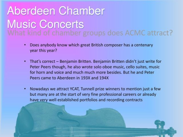 Aberdeen Chamber Music Concerts - ppt download