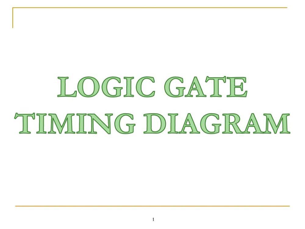medium resolution of 1 logic gate timing diagram