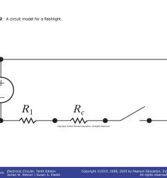 12 figure 2 12 a circuit model for a flashlight  [ 1024 x 768 Pixel ]