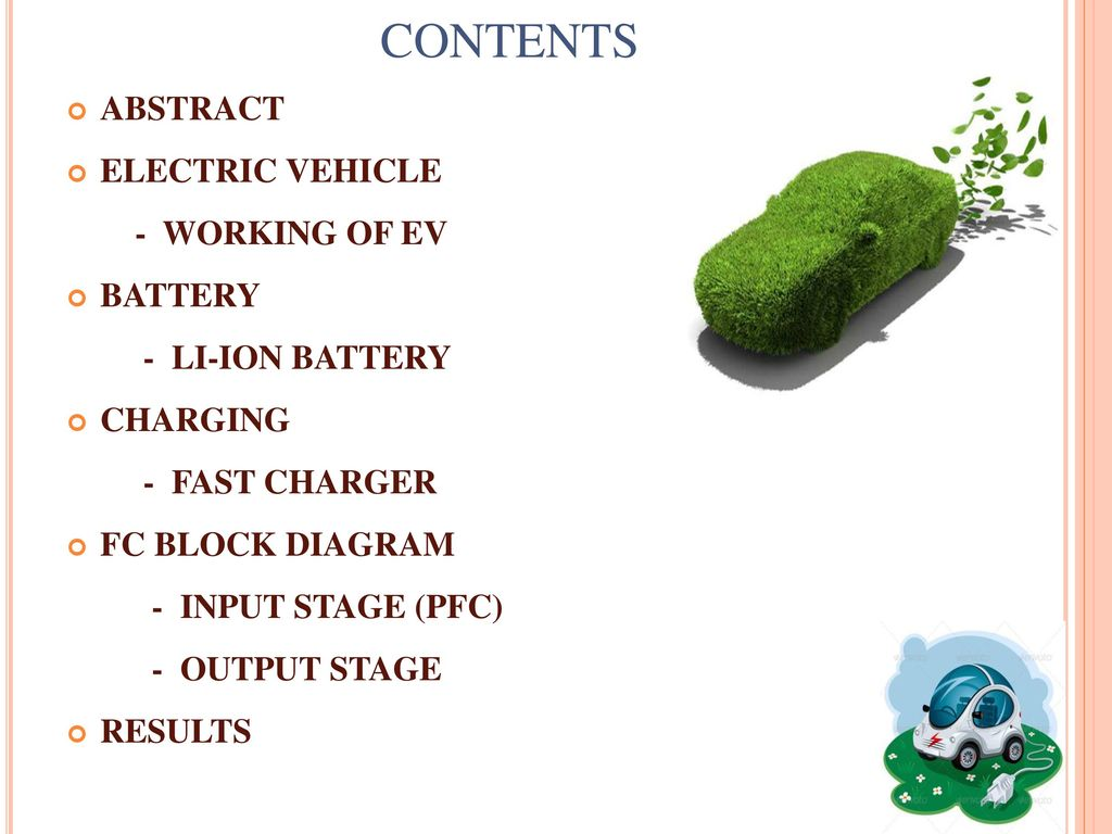 hight resolution of contents abstract electric vehicle working of ev battery