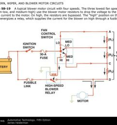 figure a typical blower motor circuit with four speeds [ 1024 x 768 Pixel ]