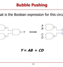 24 bubble pushing what is the boolean expression for this circuit  [ 1024 x 768 Pixel ]