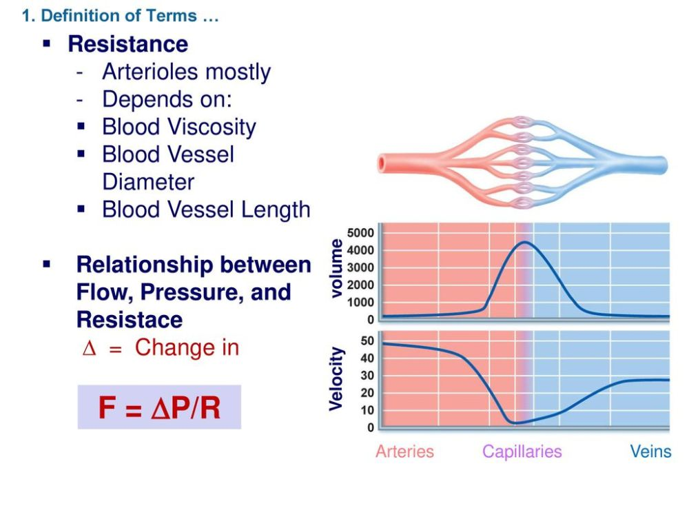 medium resolution of f p r resistance arterioles mostly depends on blood viscosity