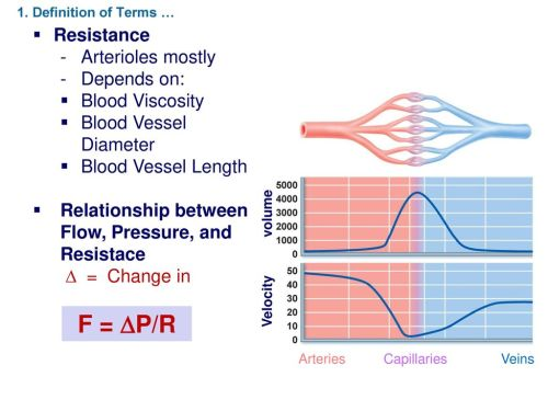 small resolution of f p r resistance arterioles mostly depends on blood viscosity