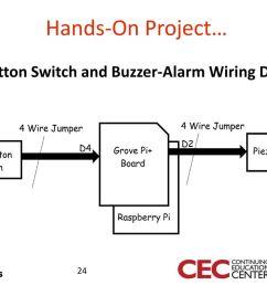 pushbutton switch and buzzer alarm wiring diagram [ 1024 x 768 Pixel ]