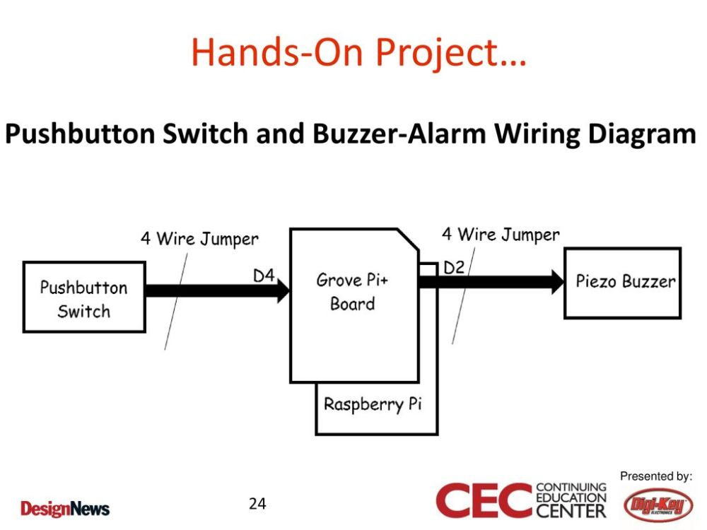 medium resolution of pushbutton switch and buzzer alarm wiring diagram