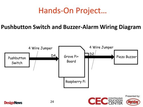small resolution of pushbutton switch and buzzer alarm wiring diagram