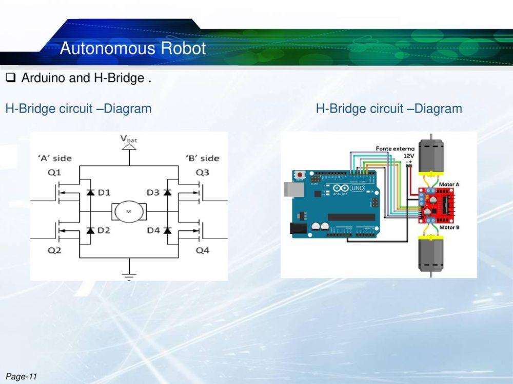 medium resolution of autonomous robot arduino and h bridge