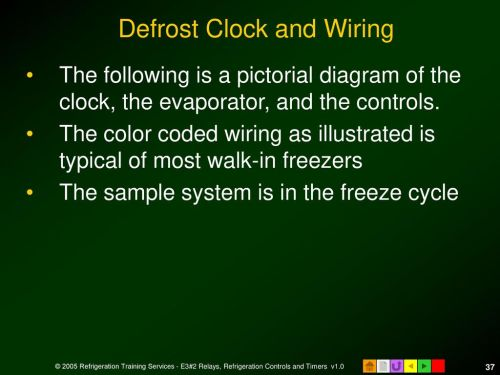 small resolution of defrost clock and wiring