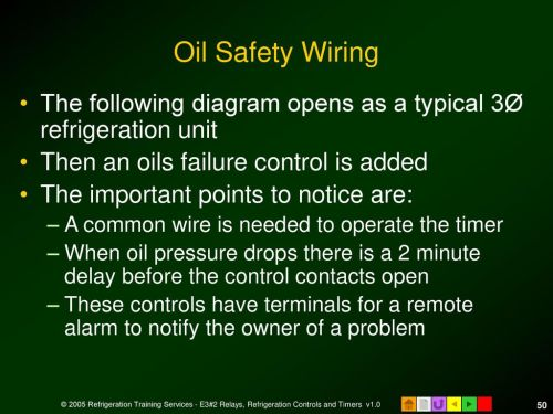 small resolution of oil safety wiring the following diagram opens as a typical 3 refrigeration unit then an