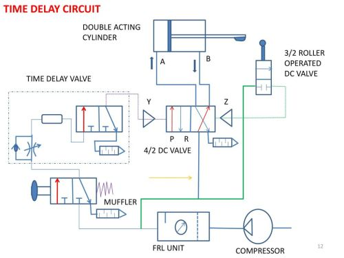 small resolution of time delay circuit double acting cylinder 3 2 roller operated dc valve