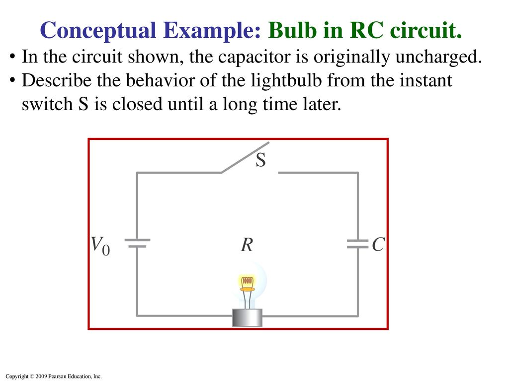 hight resolution of conceptual example bulb in rc circuit
