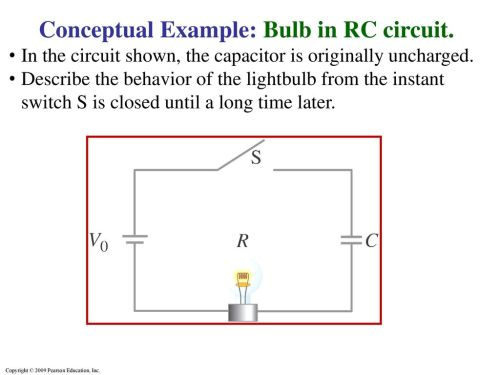 small resolution of conceptual example bulb in rc circuit