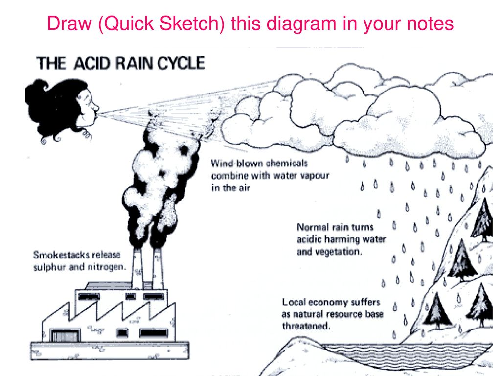 hight resolution of what causes acid rain 10 draw quick sketch this diagram in your notes