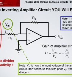 the inverting amplifier circuit you will build [ 1024 x 768 Pixel ]