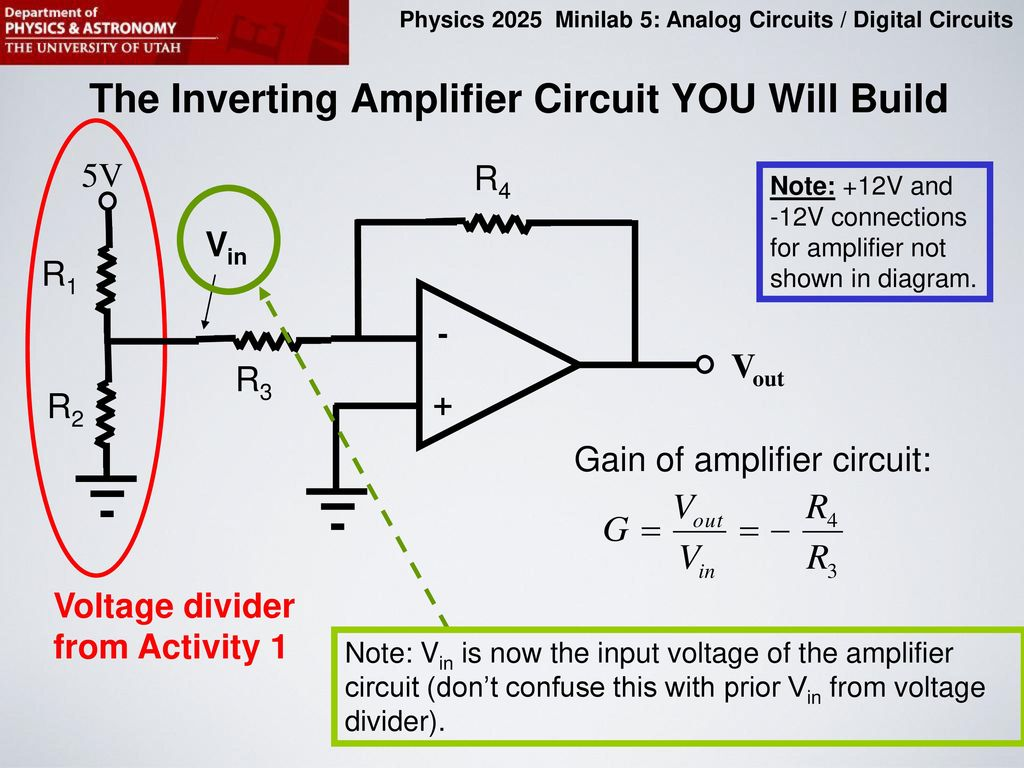 hight resolution of the inverting amplifier circuit you will build
