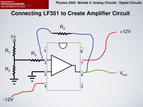 small resolution of connecting lf351 to create amplifier circuit