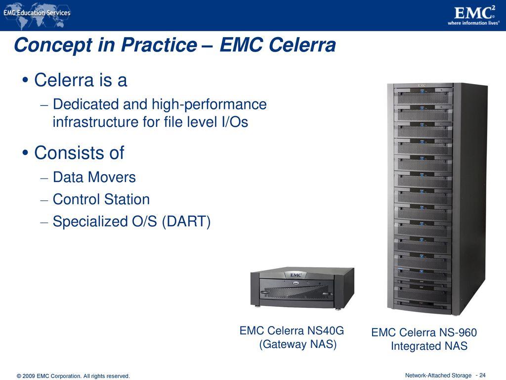 hight resolution of concept in practice emc celerra