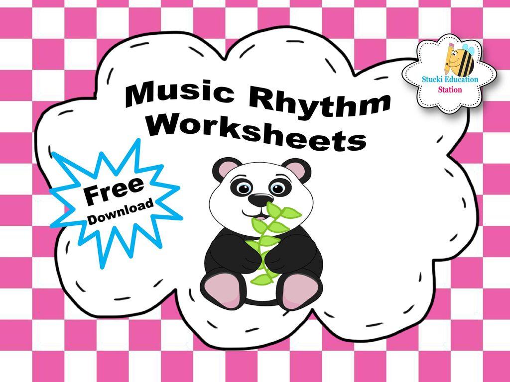 Music Rhythm Worksheets Free Download