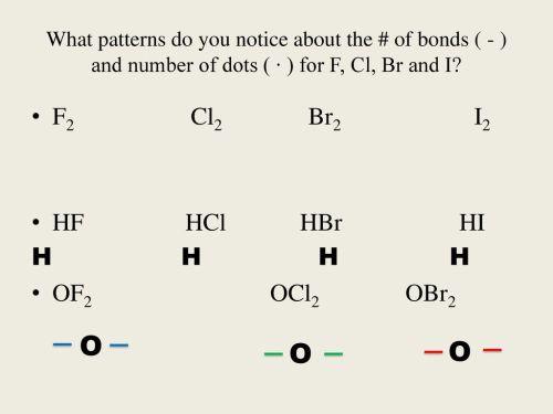 small resolution of o o o f2 cl2 br2 i2 hf hcl hbr hi h h h h of2 ocl2 obr2