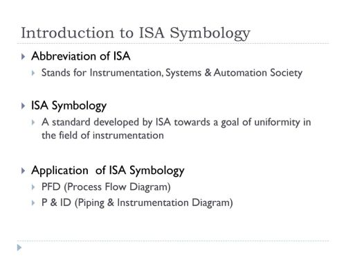 small resolution of 5 introduction to isa symbology abbreviation