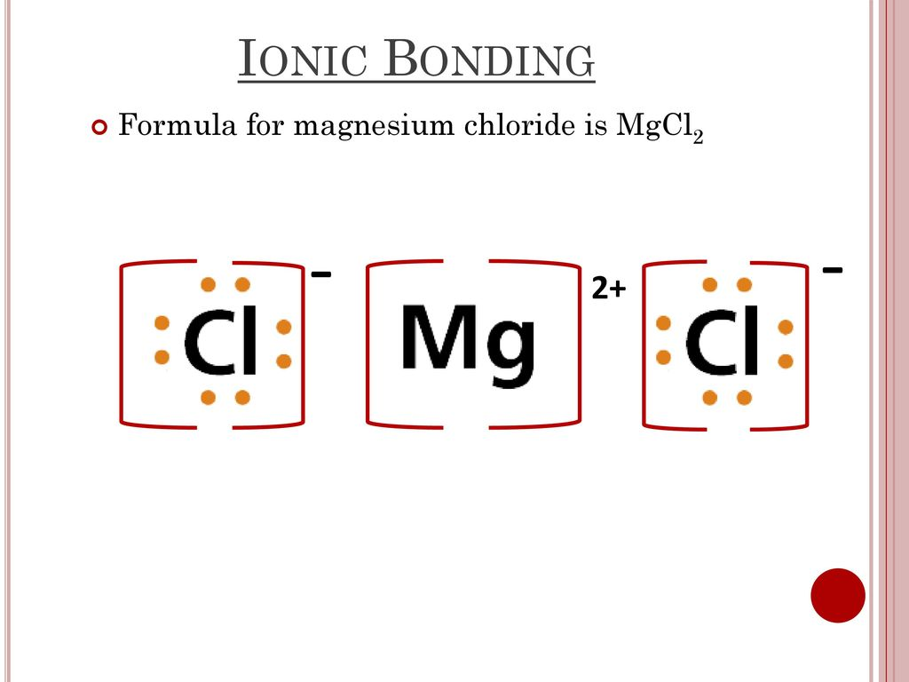 hight resolution of ionic bonding 2 formula for magnesium chloride is mgcl2