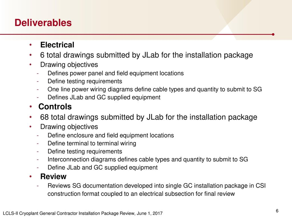 hight resolution of deliverables controls electrical