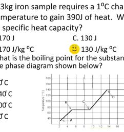 a 3kg iron sample requires a 1 c change in temperature to gain 390j of [ 1024 x 768 Pixel ]