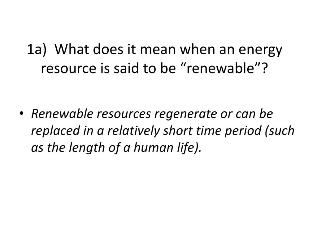 Answers For The Student Worksheet On Energy Resources