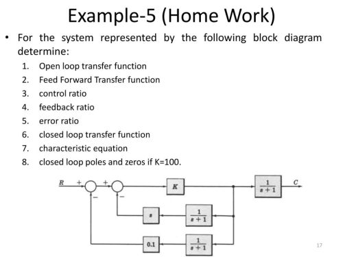 small resolution of example 5 home work for the system represented by the following block diagram