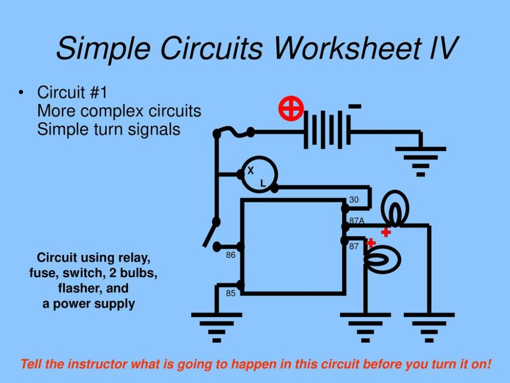 medium resolution of 20 simple circuits worksheet lv circuit 1 more complex circuits simple turn signals
