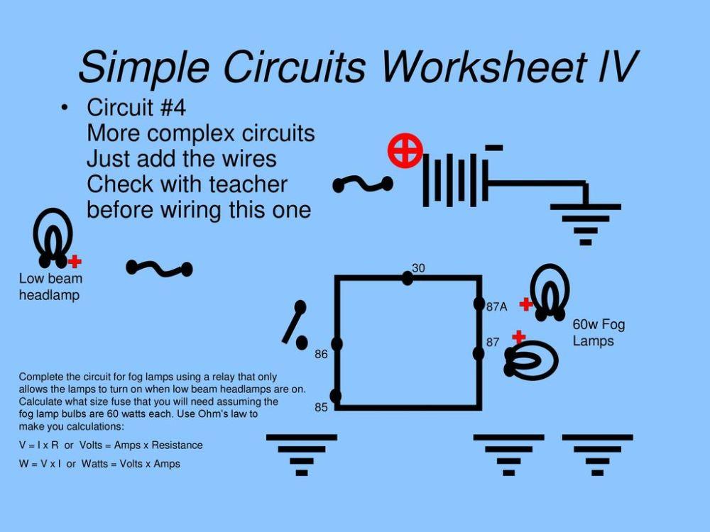medium resolution of simple circuits worksheet lv