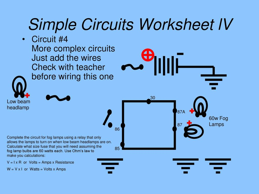 hight resolution of simple circuits worksheet lv