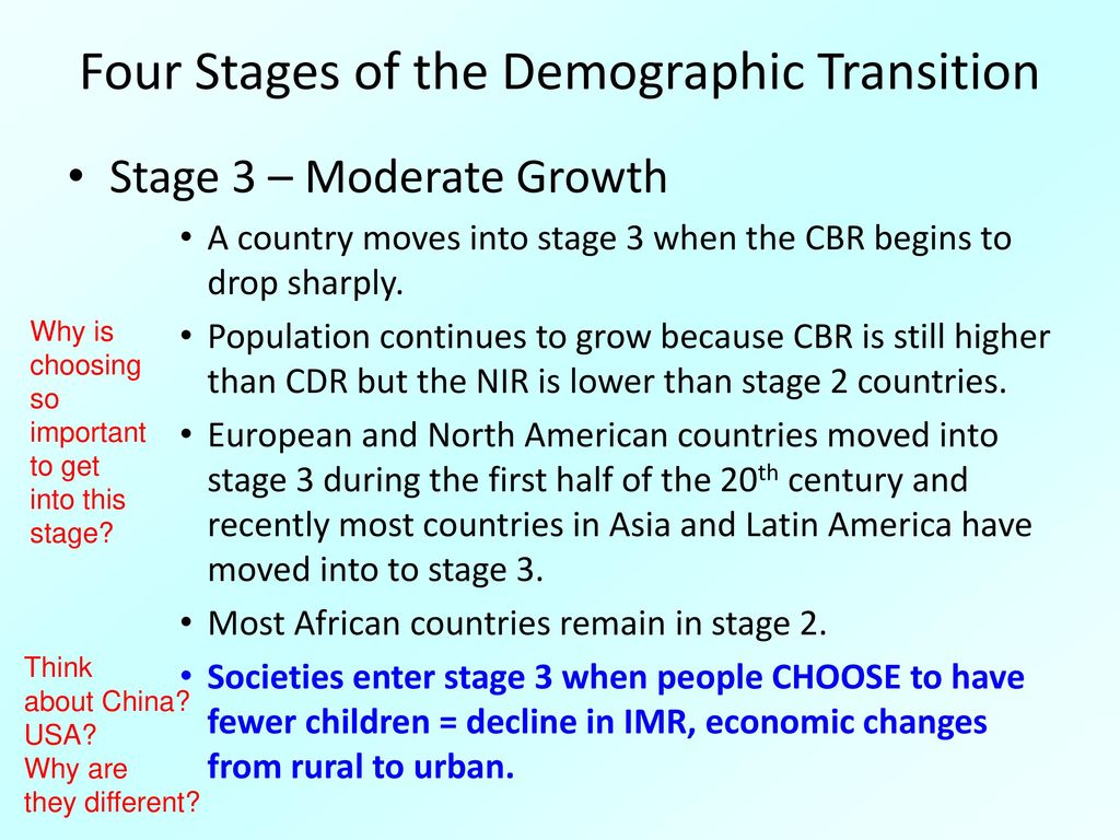 Four Stages Of Demographic Transition Papp101 02 27