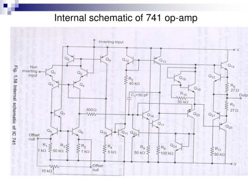 small resolution of 84 internal schematic of 741 op amp