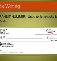 13 check writing transit number used to list checks for deposit j  [ 1024 x 768 Pixel ]