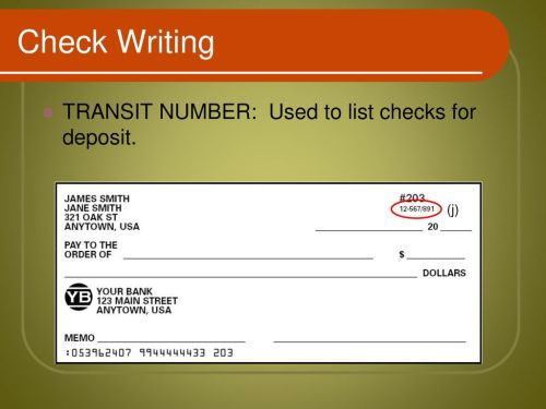 small resolution of 13 check writing transit number used to list checks for deposit j
