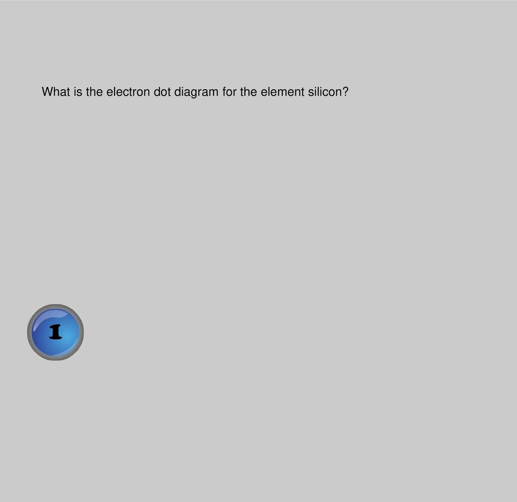 hight resolution of 2 what is the electron dot diagram for the element silicon