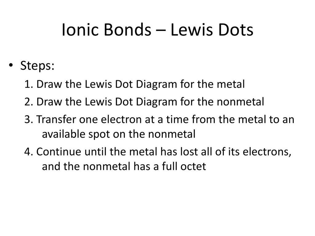 ionic bonding lewis dot diagram electric light wiring australia dots ppt download 8 bonds