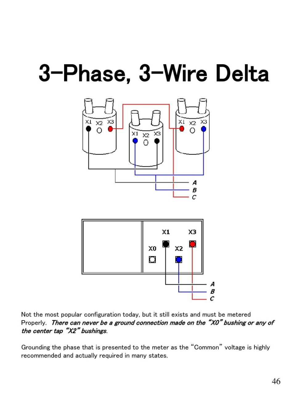 medium resolution of 3 phase 3 wire delta not the most popular configuration today but