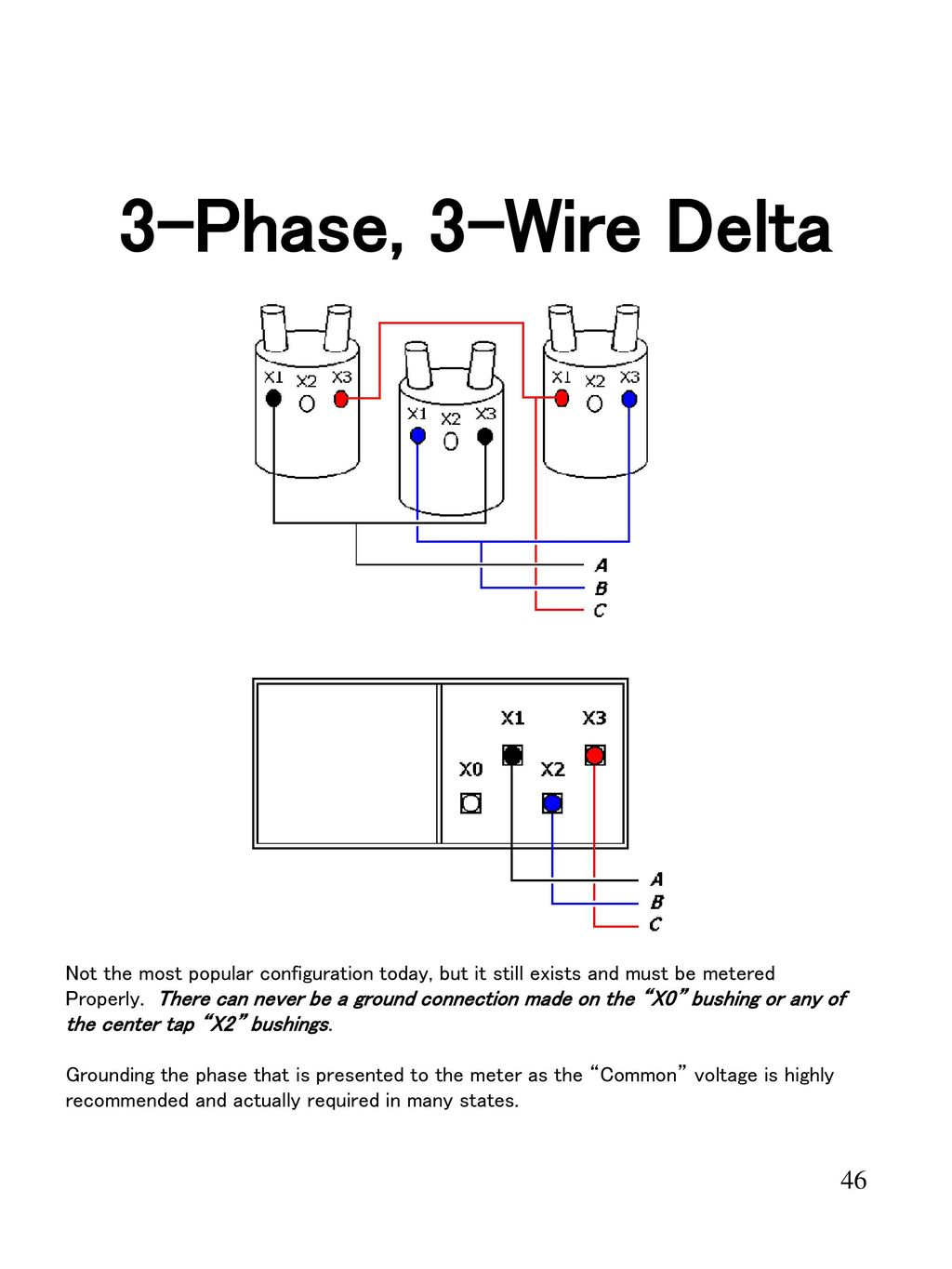 hight resolution of 3 phase 3 wire delta not the most popular configuration today but