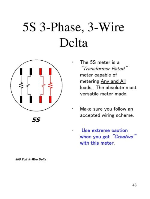 small resolution of 5s 3 phase 3 wire delta the 5s meter is a transformer rated