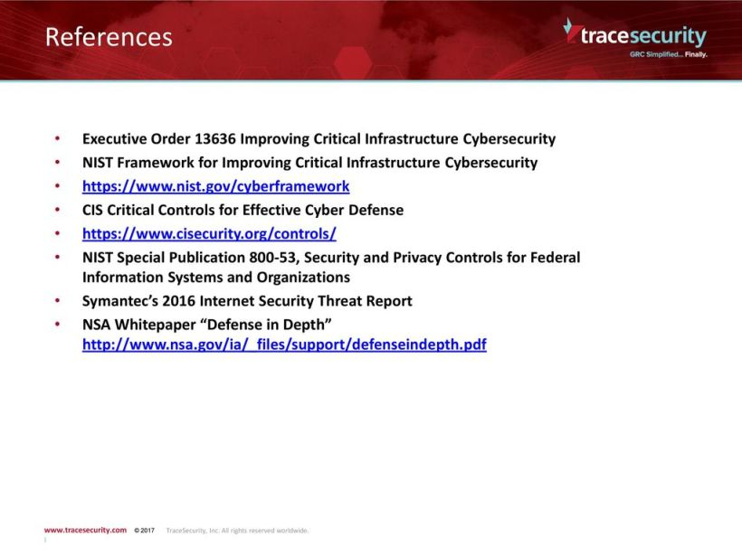 Framework For Improving Critical Infrastructure