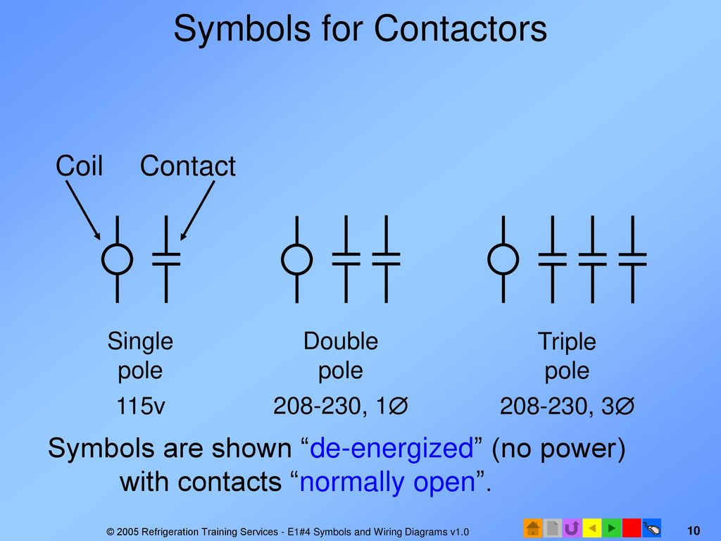 hight resolution of single pole contactor wiring diagram symbol