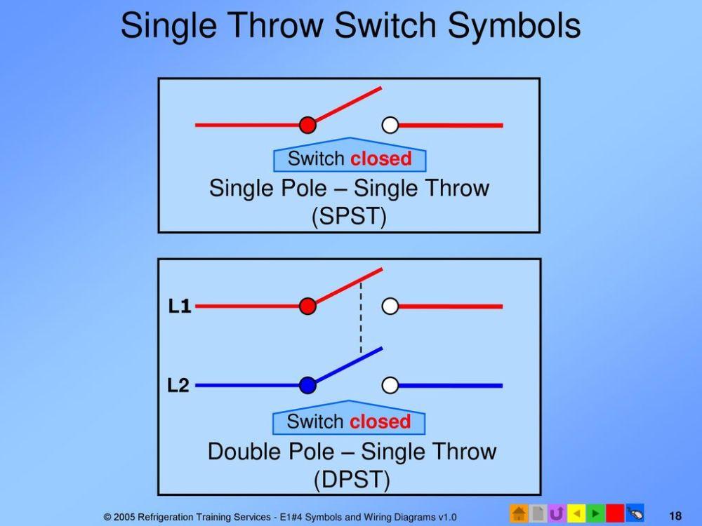 medium resolution of single throw switch symbols