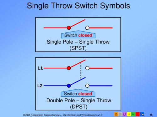 small resolution of single throw switch symbols