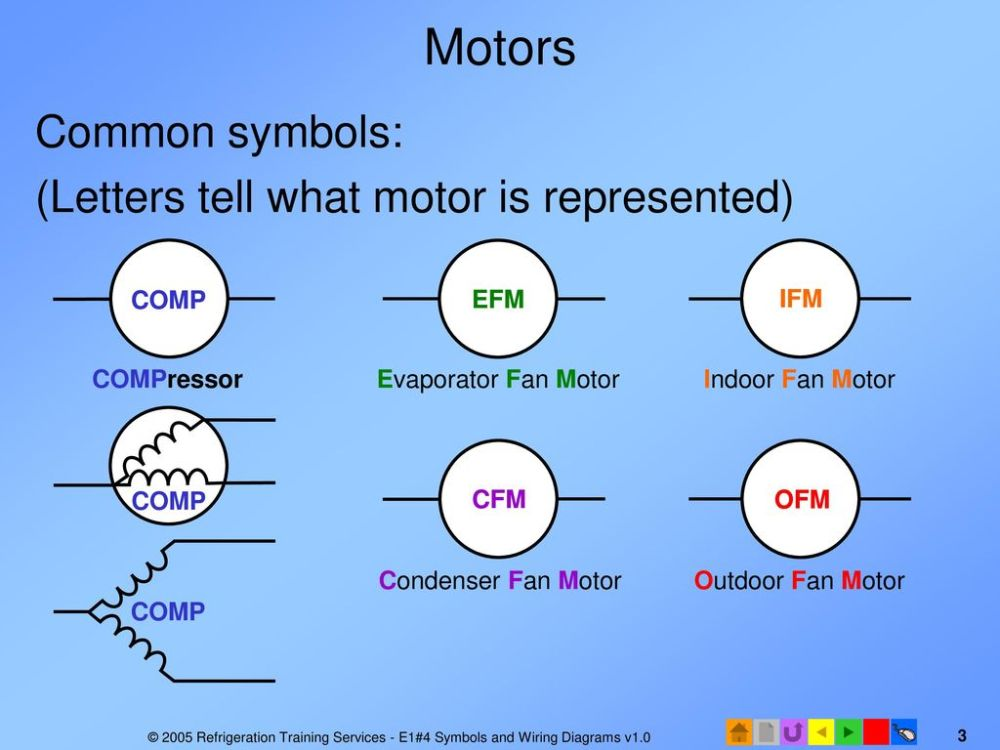 medium resolution of motors common symbols letters tell what motor is represented comp