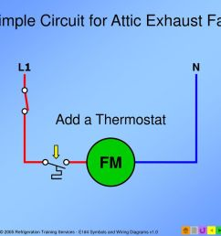 simple circuit for attic exhaust fan [ 1024 x 768 Pixel ]