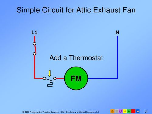 small resolution of simple circuit for attic exhaust fan