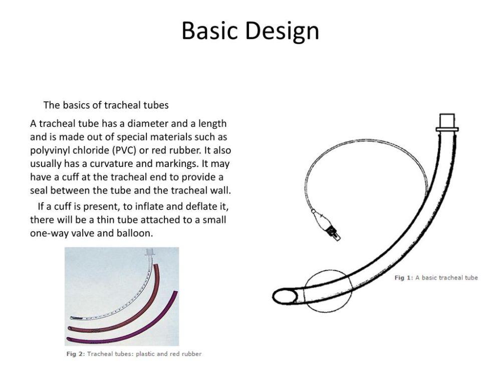 medium resolution of basic design the basics of tracheal tubes